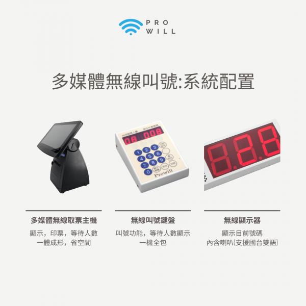 多媒體無線叫號機系統配置